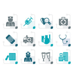 Stylized medicine and healthcare icons vector