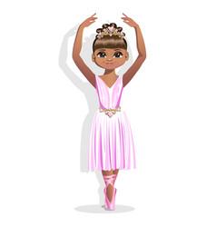 sweet little ballerina in a shiny dress vector image