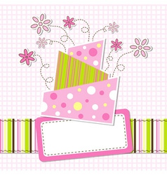 template greeting card eps10 vector image