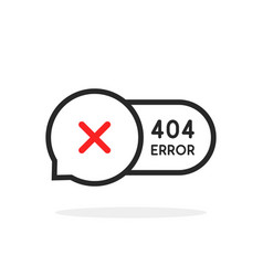 Thin line 404 error bubble icon vector