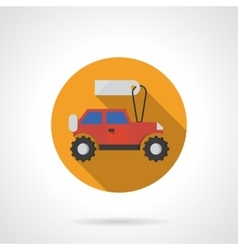 Toy car shop round flat color icon vector image vector image