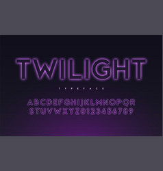 Trendy neon light or eclipse style glowing vector