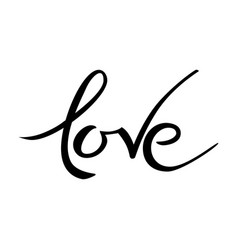 valentines day love lettering hand drawn word vector image