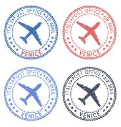 Venice italy postmarks vector