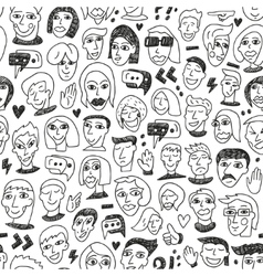 Faces - seamless bacground vector image