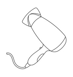 Hair dryerbarbershop single icon in outline style vector