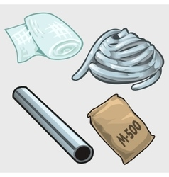 Set of four items for the construction vector image