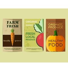 Set of Stylish Farm Fresh flyer template or vector image