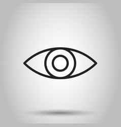 Simple eye icon on isolated background business vector