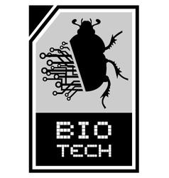Bio beetle tech vector image