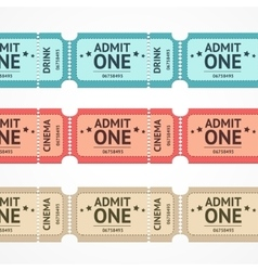 color tickets set line vector image