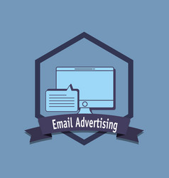 email marketing design vector image