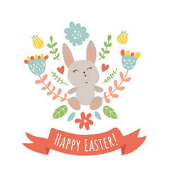 happy bunny vector image vector image