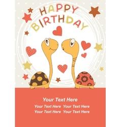 Turtle Birthday vector image vector image