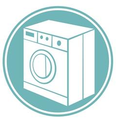 washing machine symbol vector image vector image