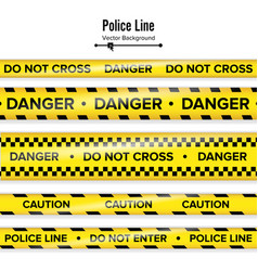 yellow with black police line do not cross vector image vector image