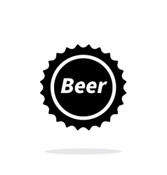 Beer bottle cup simple icon on white background vector image