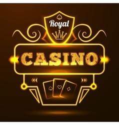Casino Neon Sign vector image