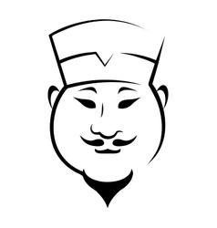 Chinaman wearing a hat vector image vector image