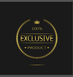 exclusive product label vector image vector image