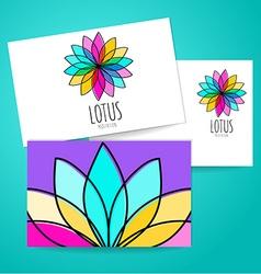 lotus meditation logo sign vector image vector image