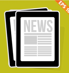 News on tablet - - EPS10 vector image