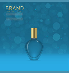 perfume in a glass bottle vector image vector image
