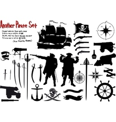 Another Big Pirate Set vector image