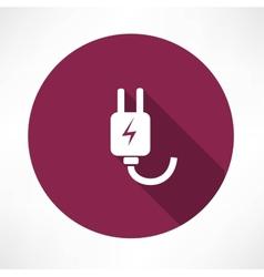 electricity piug icon vector image vector image