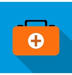 First aid kit icon flat style vector image vector image