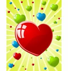 illustration of valentines wallpaper vector image vector image