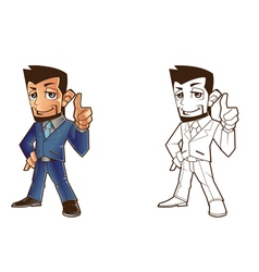 Mascot Business Design vector image