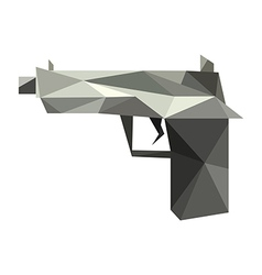 Origami gun vector image