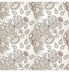 ornate seamless flower paisley design vector image