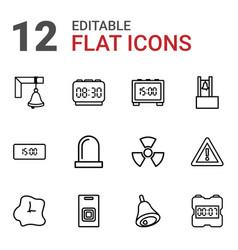 12 alarm icons vector