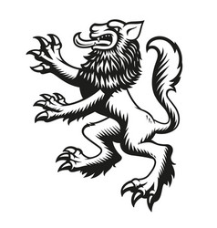 a heraldic wolf vector image
