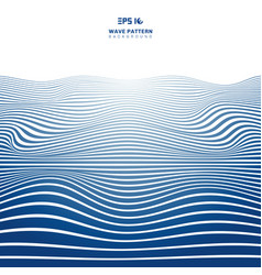 Abstract blue wavy stripes lines wave pattern vector