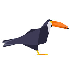 abstract low poly toucan logo vector image