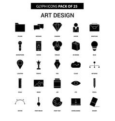 art and design glyph icon set vector image