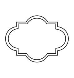 Art deco style badge icon vector