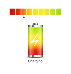 Battery power energy icon battery level charge vector