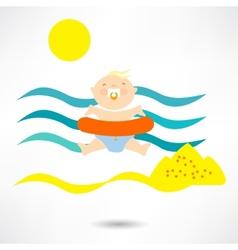 Beach child vector