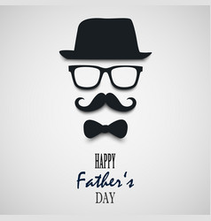 beautiful wish for fathers day template vector image