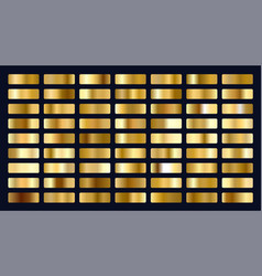 Big set metallic gold gradients vector