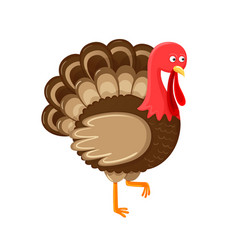 bird symbol of thanksgiving day isolated vector image