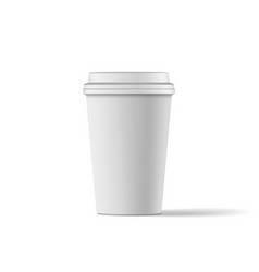 Blank Coffee paper Cup realistic Mockup vector image
