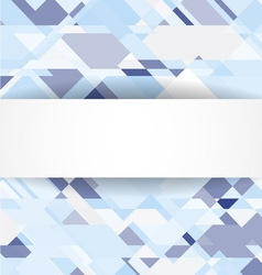 Blue geometric background with white banner vector image