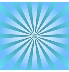 Blue rays poster star burst background vector image