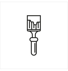 Brush icon on white background vector