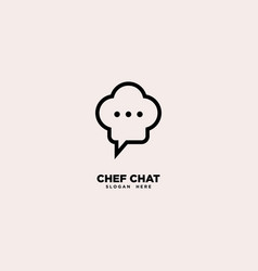 Chef chat logo template vector